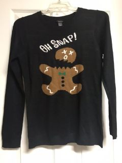 Christmas sweater junior girls size L. Non-smoking home. Perfect for your next Christmas party. New with tags! CP