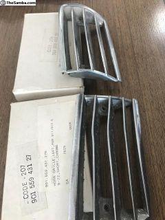 Porsche OEM 911/912 2 Hole Chrome Horn Grilles