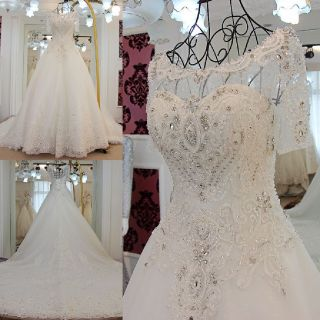 Lanna's Gorgeous Appliqué Sweetheart A Line Wedding Dress Without Train