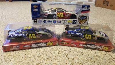 3 Jimmie Johnson 1:24 Scale Stock Cars - New In Package