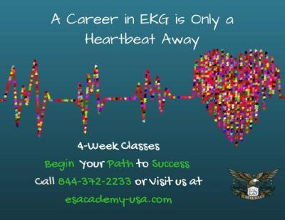 EKG Technician Class at E&S Academy.