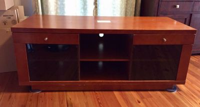 TV stand or console with shelves/drawers