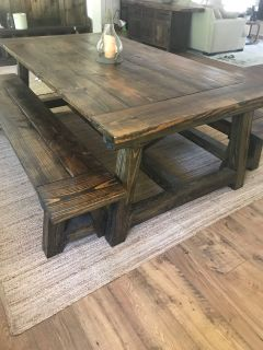 Handmade dining table