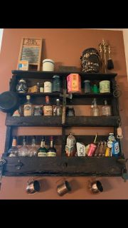 Espresso stained handcrafter wall holder (Moving Sale!!!)