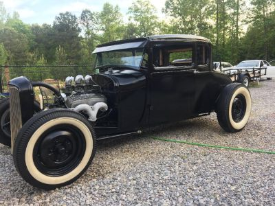 1928 FORD MODEL A COUPE HOT ROD RAT ROD OLD SCHOOL