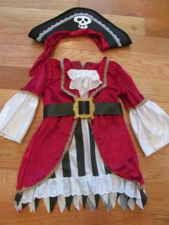 Girls Pirate Costume Size 18-24 mo (slight yellowing on one sleeve if looking closely)
