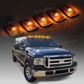 Find For 88-02 Chevy/GMC Smoke Cab Marker Clearance Light+Amber 3528 LED+Base 5pcs motorcycle in Milpitas, California, United States