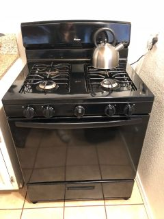Black Gas Stove/Oven