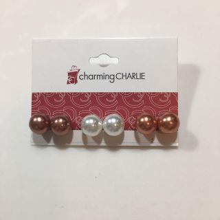 CHARMING CHARLIE PEARL EARRING SET OF 3