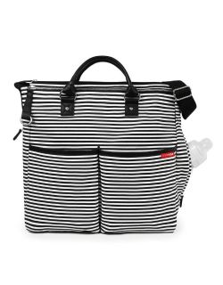 Skip Hop Duo Special Edition Diaper Bag - Black and white stripe