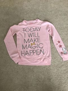 Target Snoopy light pink sweater 6/6x small