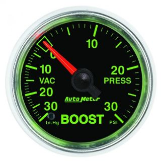 """Purchase Auto Meter 3803 GS 2-1/16"""" Mechanical Boost/Vacuum Gauge, 30 IN HG/30psi motorcycle in Lenexa, Kansas, United States, for US $95.95"""