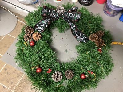 5 Hand Made Wreath with hangers