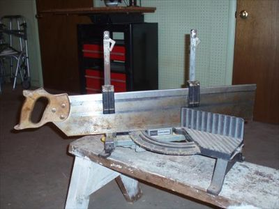 Vintage Miter Box with Saw