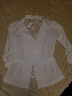NWT-large-lace back blazer-East Peoria pick up