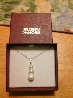 Helzberg Diamonds sterling silver freshwater pearl necklace