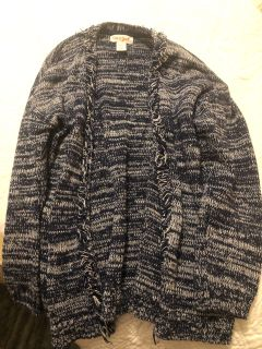 Target Cat and Jack Navy and White Cardigan Size XS