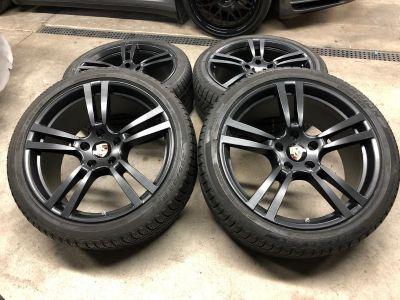 FS: Genuine OEM 21 inch / Cayenne Wheels / Matte Black / Pirelli WINTER