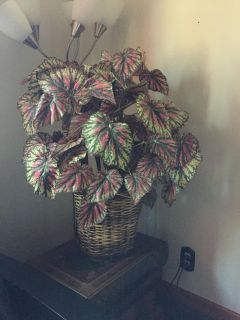 Large faux potted plant