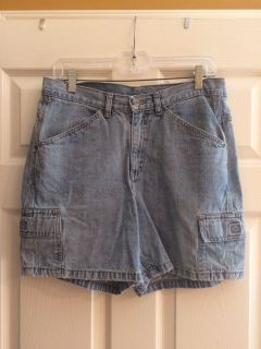 Blue jean shorts ladies black 10