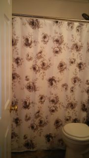 Material shower curtain