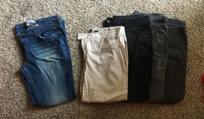 Jeans, dress capris and casual pants
