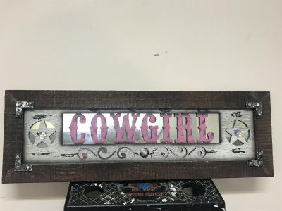 Cowgirl wall hanging