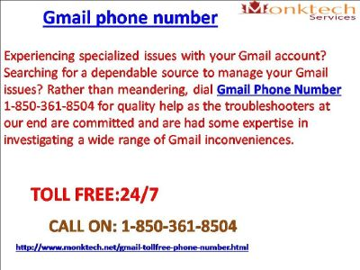 How Is Gmail Phone Number Safeguarding Your Gmail Account 1-850-361-8504?
