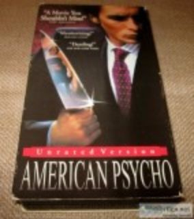 American Psycho - Horror Film VHS Tape Unrated Version