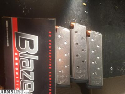 For Sale: 3 1911 chip mcCormick power mags W/ammo