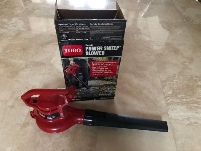 Touro power sweep electric blower