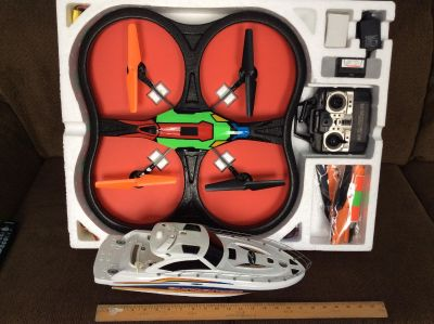 Large Quad Copter and Boat