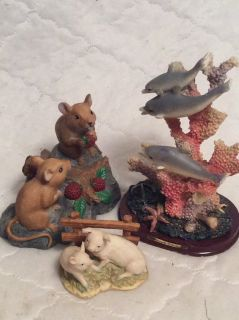 Sculptures: Dolphins/Mice/Pigs