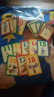 36 cards numbers and counting learning game cards