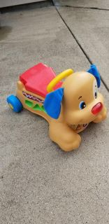 FISHER PRICE RIDING PUPPY & BOY TOYS