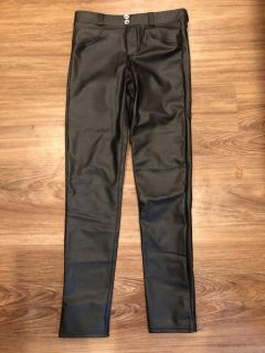 Leather pants size small. Bought online. Super cute! $8