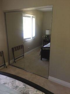Closet doors.  Mirror