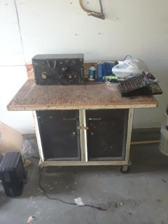 Work Table (With wheels + storage)