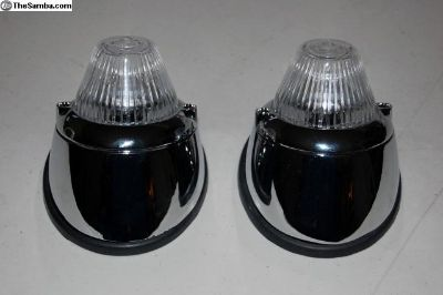 Complete front signal light kit w/rubber seals