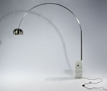 New MCM Marble Base Floor Lamp 2 Colors Ships FedX