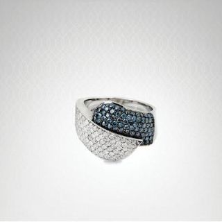 $1,695, Buy Blue and White Diamond Ring Online USA