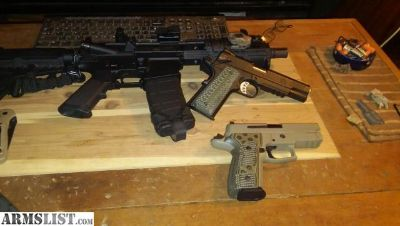 For Sale/Trade: Lnib Springfield range officer operator elite and sig 229 scorpion elite 9mm trade both for colt m45a1