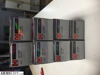 For Sale: 400 Rounds 223 Steel Match HP