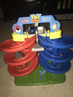 Toy Story themed car track