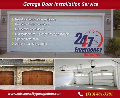 Commercial New Garage door Installation ($25.95) Missouri City Houston, 77459 TX