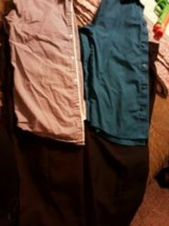 two boys size 7-8 pants & shirts