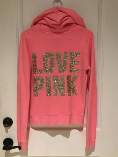 PINK from Victoria's Secret hot pink Zip up Sweat Shirt Hoodie Small