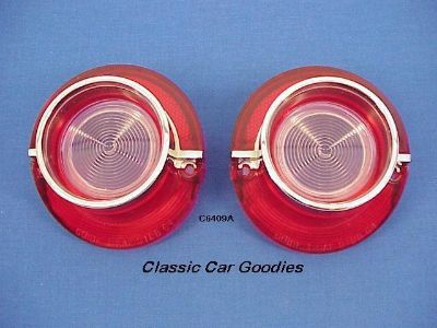 Purchase 1964 Chevy Back Up Light Lens. (2) Chrome Rims. New Pair! motorcycle in Aurora, Colorado, US, for US $41.99