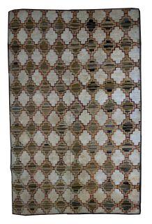 Handmade antique American hooked rug, 1B538