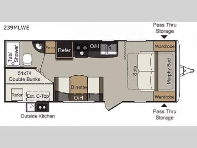 New 2019 Keystone RV Passport 239MLWE Express